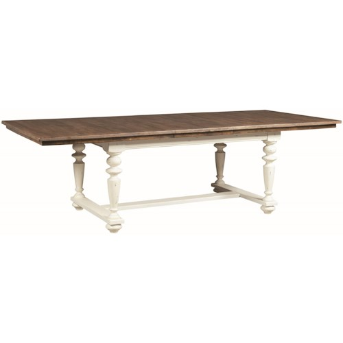 Coaster Simpson Rectangular Dining Table with Turned Legs