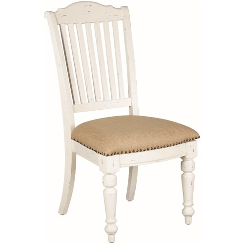 Coaster Simpson Upholstered Dining Side Chair with Nailhead Trim