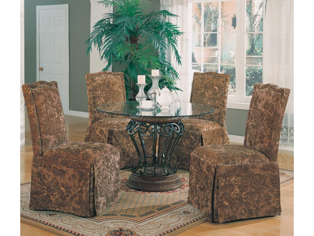 Shown with Parson Chairs
