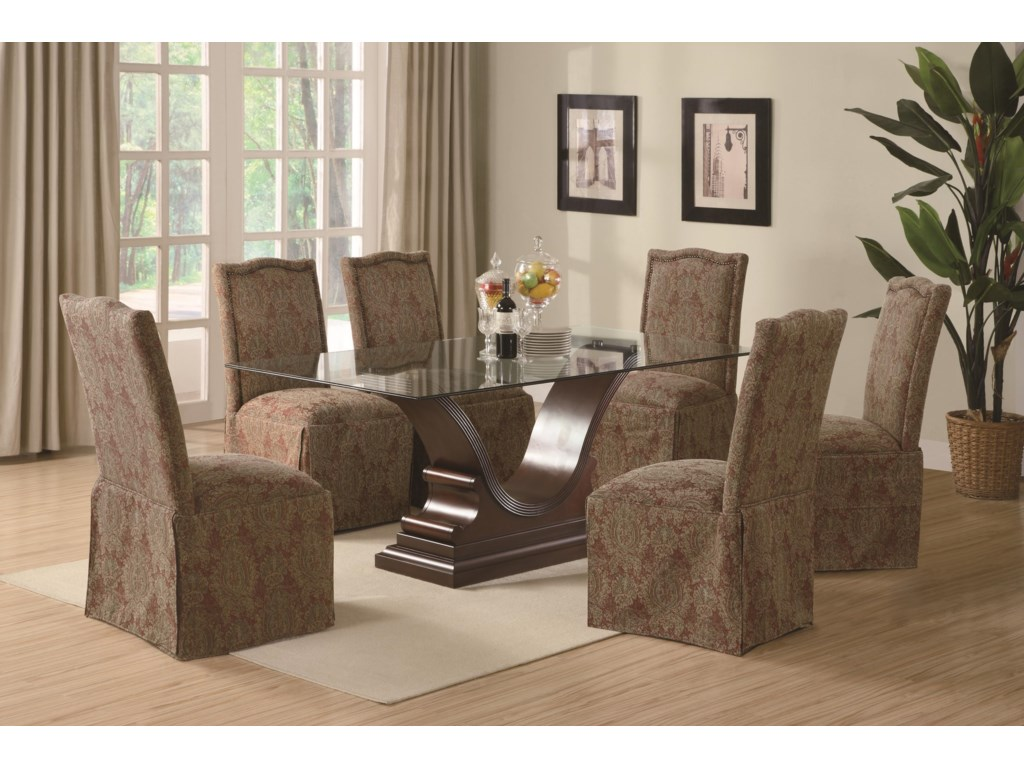 Chairs Shown with Rectangular Top Table