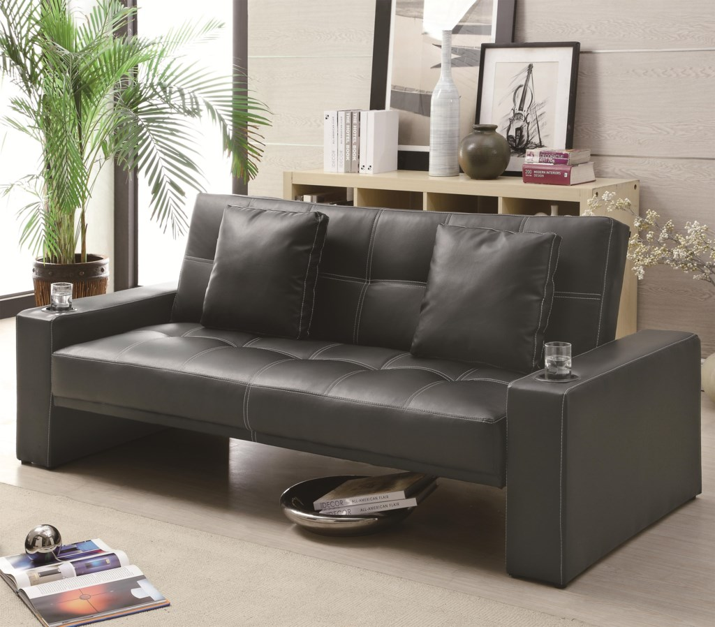 Coaster Sofa Beds and Futons Futon Styled Sofa Sleeper with Casual