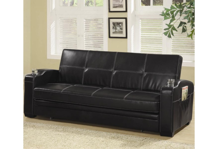 Futons Faux Leather Sofa Bed