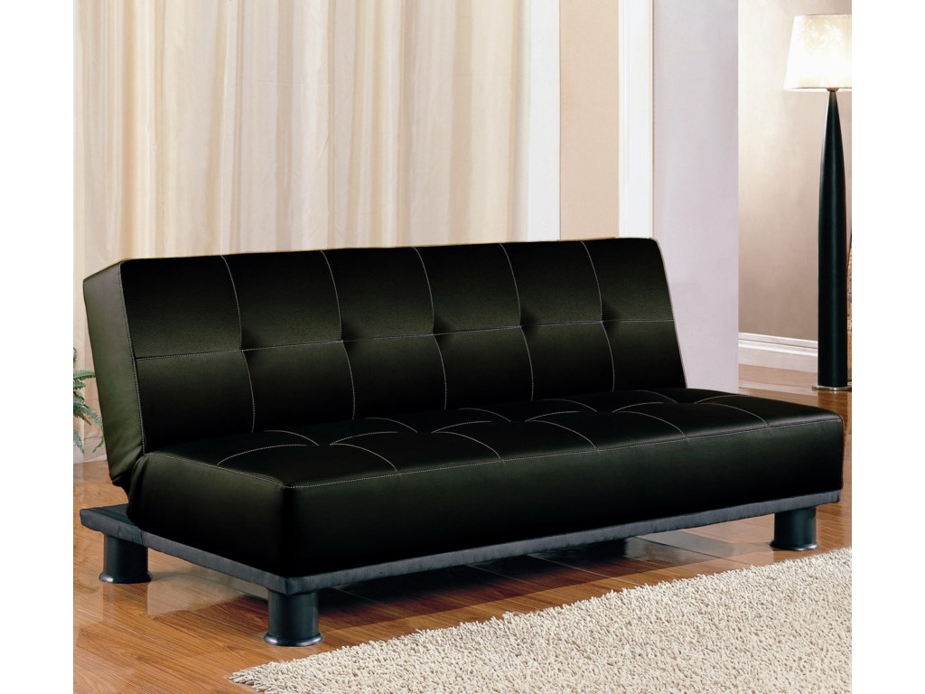 Sofa Beds and Futons Contemporary Armless Convertible Sofa Bed by Coaster  at Value City Furniture
