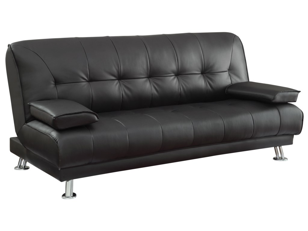Sofa Beds and Futons Faux Leather Convertible Sofa Bed with Removable  Armrests by Coaster at Miller Home