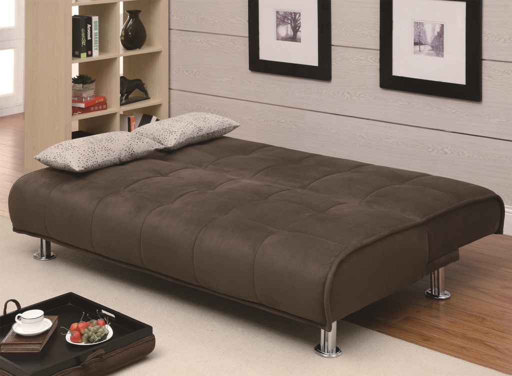 Coaster Sofa Beds And Futons Transitional Styled Futon Miskelly  ~ Sleeper Sofa With Real Mattress