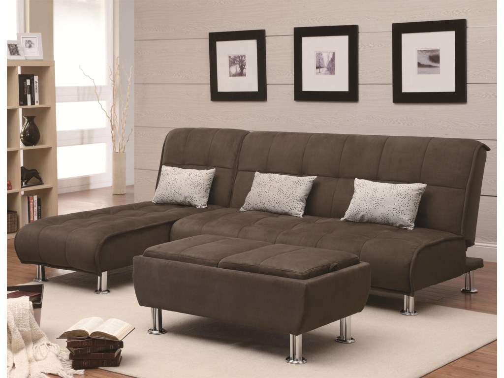 Shown in Sofa Position with Coordinating Chaise and Ottoman