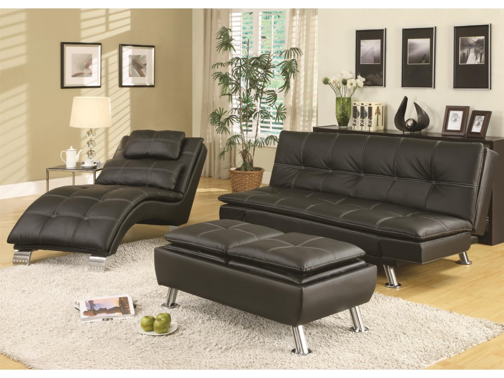 Shown with Coordinating Chaise and Ottoman