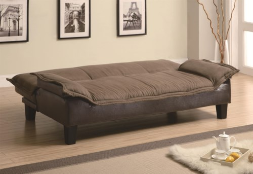 Coaster Sofa Beds and Futons Ratchet Back Sofa Bed with Dark Brown