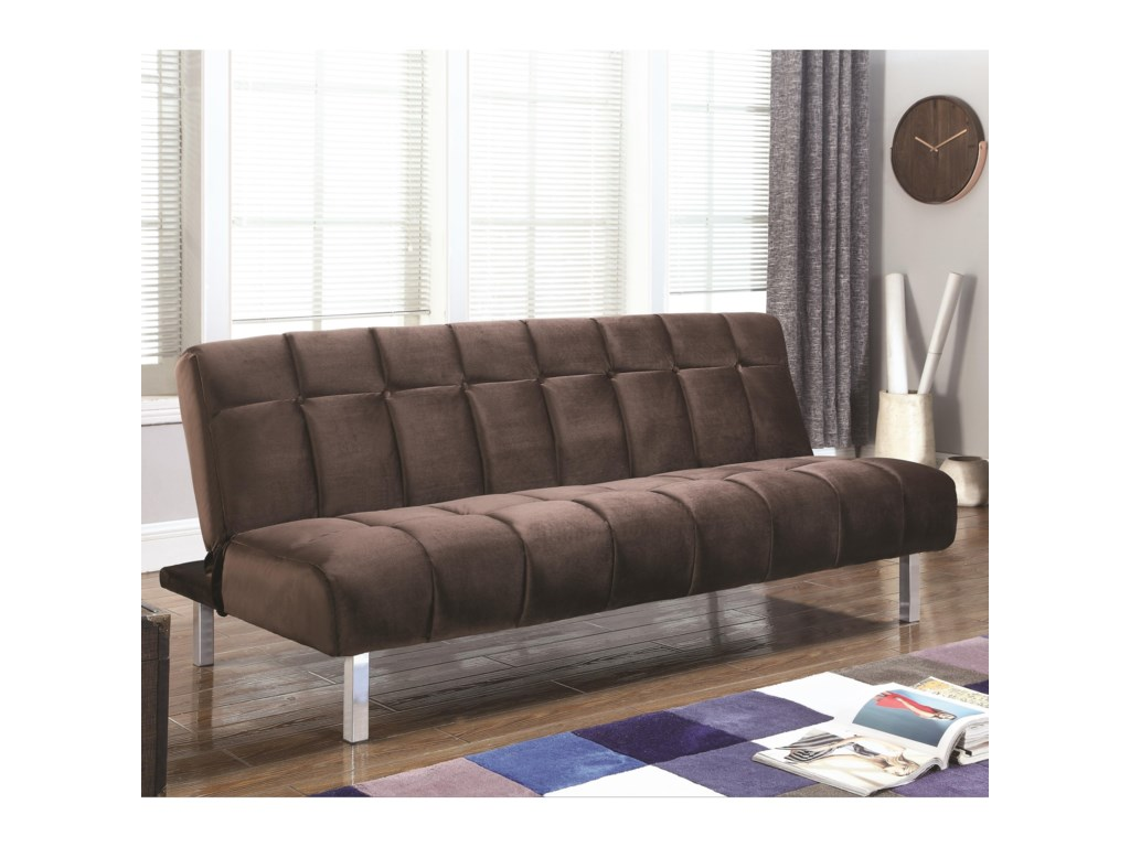 Sofa Beds and Futons Contemporary Sofa Bed with Channeled Design by Coaster  at A1 Furniture & Mattress