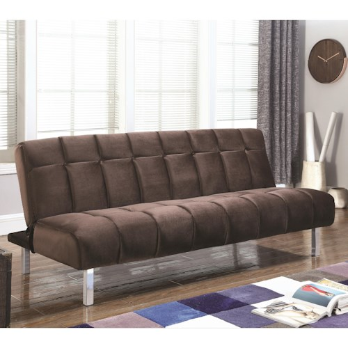 Coaster Sofa Beds And Futons Contemporary Bed With Channeled Design