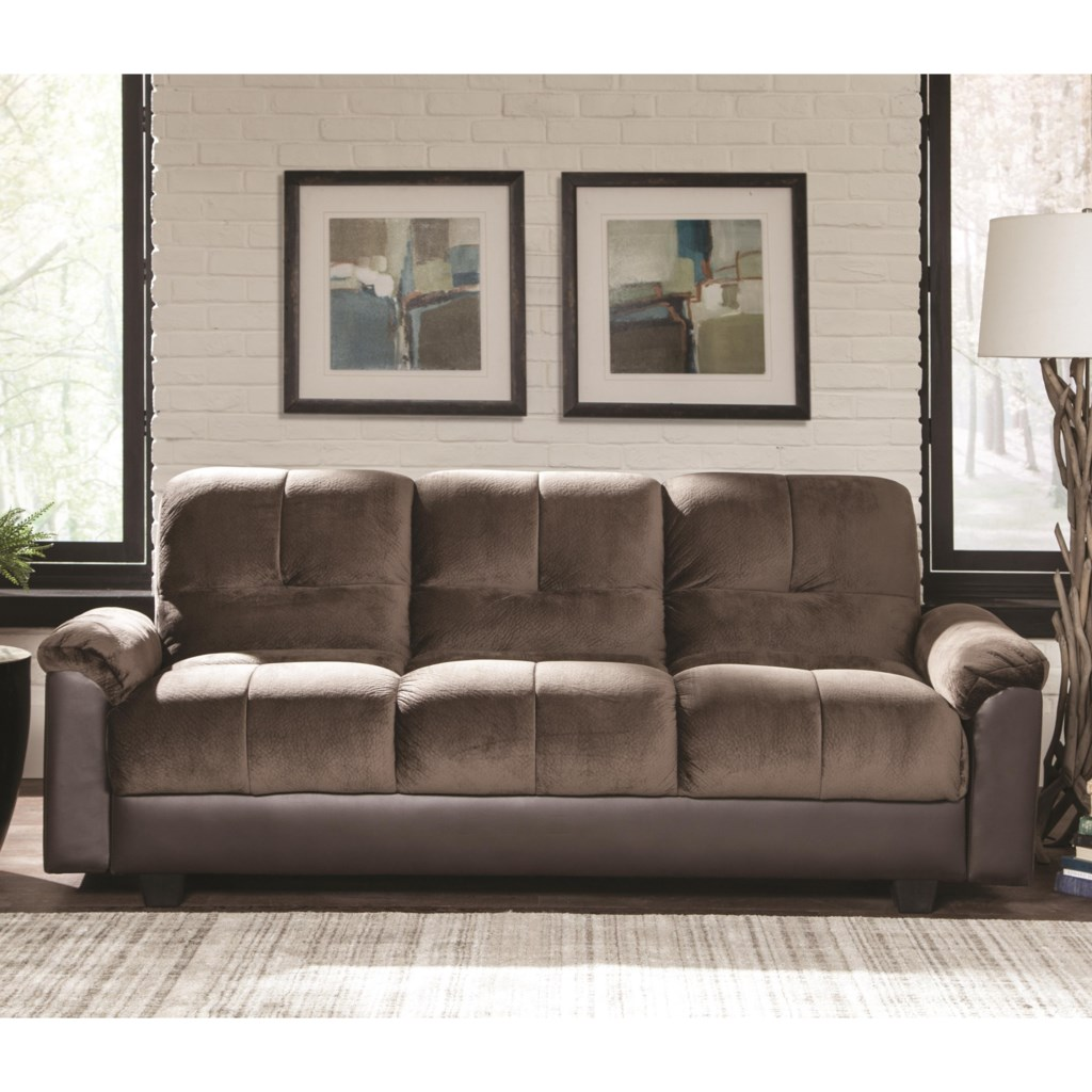 Coaster Sofa Beds And Futons Two Tone Sofa Bed With Storage