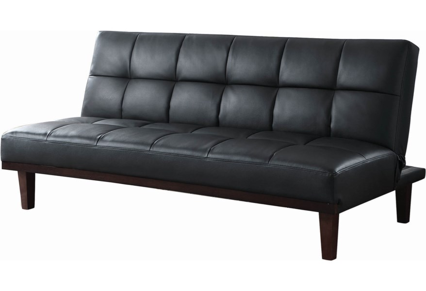 Swell Sofa Beds And Futons Casual Faux Leather Sofa Bed With Solid Wood Legs By Coaster At Dunk Bright Furniture Machost Co Dining Chair Design Ideas Machostcouk