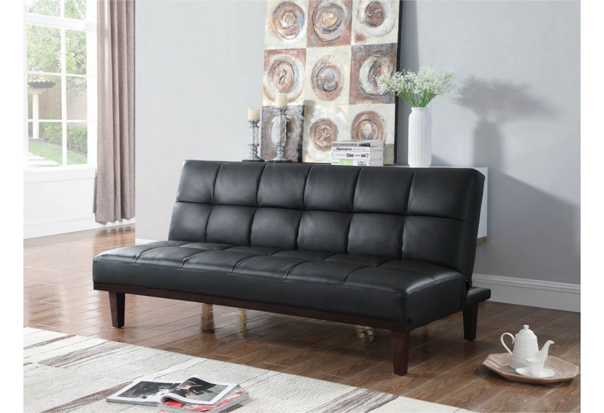 Tremendous Coaster Sofa Beds And Futons Casual Faux Leather Sofa Bed Machost Co Dining Chair Design Ideas Machostcouk