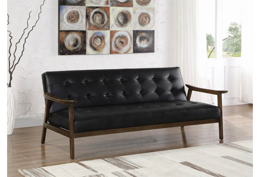 Brilliant Coaster Sofa Beds And Futons Mid Century Modern Faux Leather Cjindustries Chair Design For Home Cjindustriesco