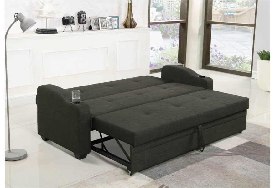 Coaster Sofa Beds and Futons Casual Sofa Bed with Pull-Out ...