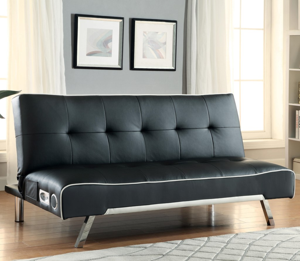 Built In Couch coaster sofa beds and futons - sofa bed with built-in bluetooth