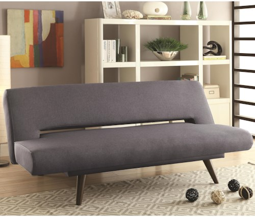 Coaster Sofa Beds And Futons Mid Century Modern Adjule Bed