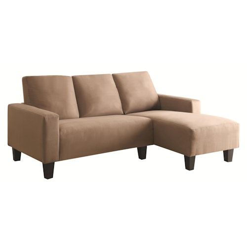 Coaster Sothell Contemporary Sectional Sofa with Chaise