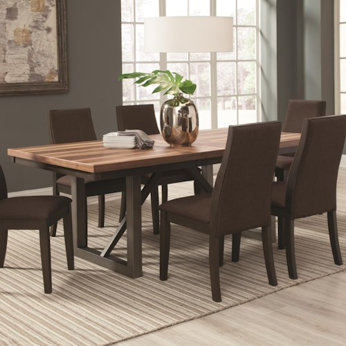 Coaster Spring Creek Dining Table With 18 Extension Leaf