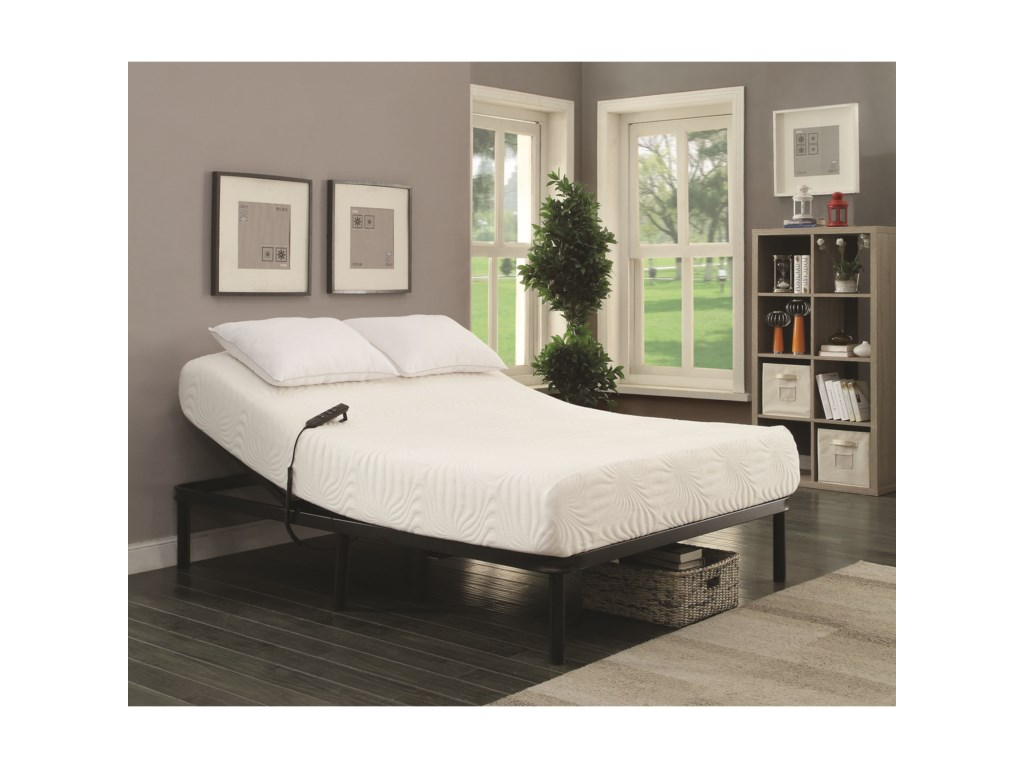 Adjustable Bed Base Only, Mattress Not Included;  Image May Not Represent Size Indicated