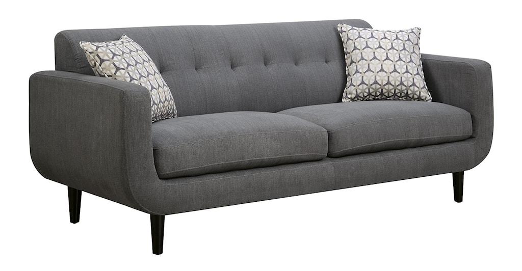 Coaster Stansall Mid Century Modern Sofa Value City Furniture Sofas