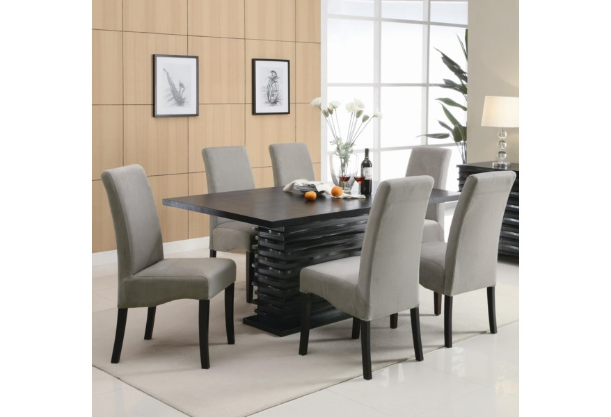 Coaster Stanton 7 Piece Table And Chair Set Standard Furniture Dining 7 Or More Piece Sets