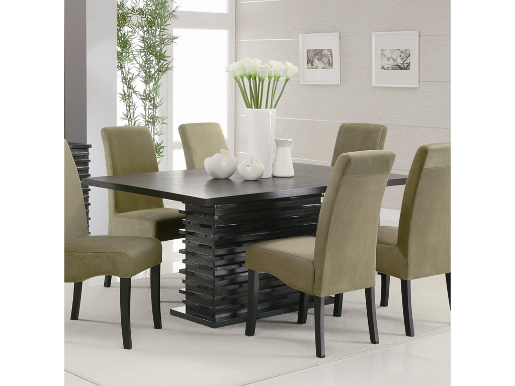 209241165c Coaster Stanton Contemporary Dining Table | A1 Furniture & Mattress ...