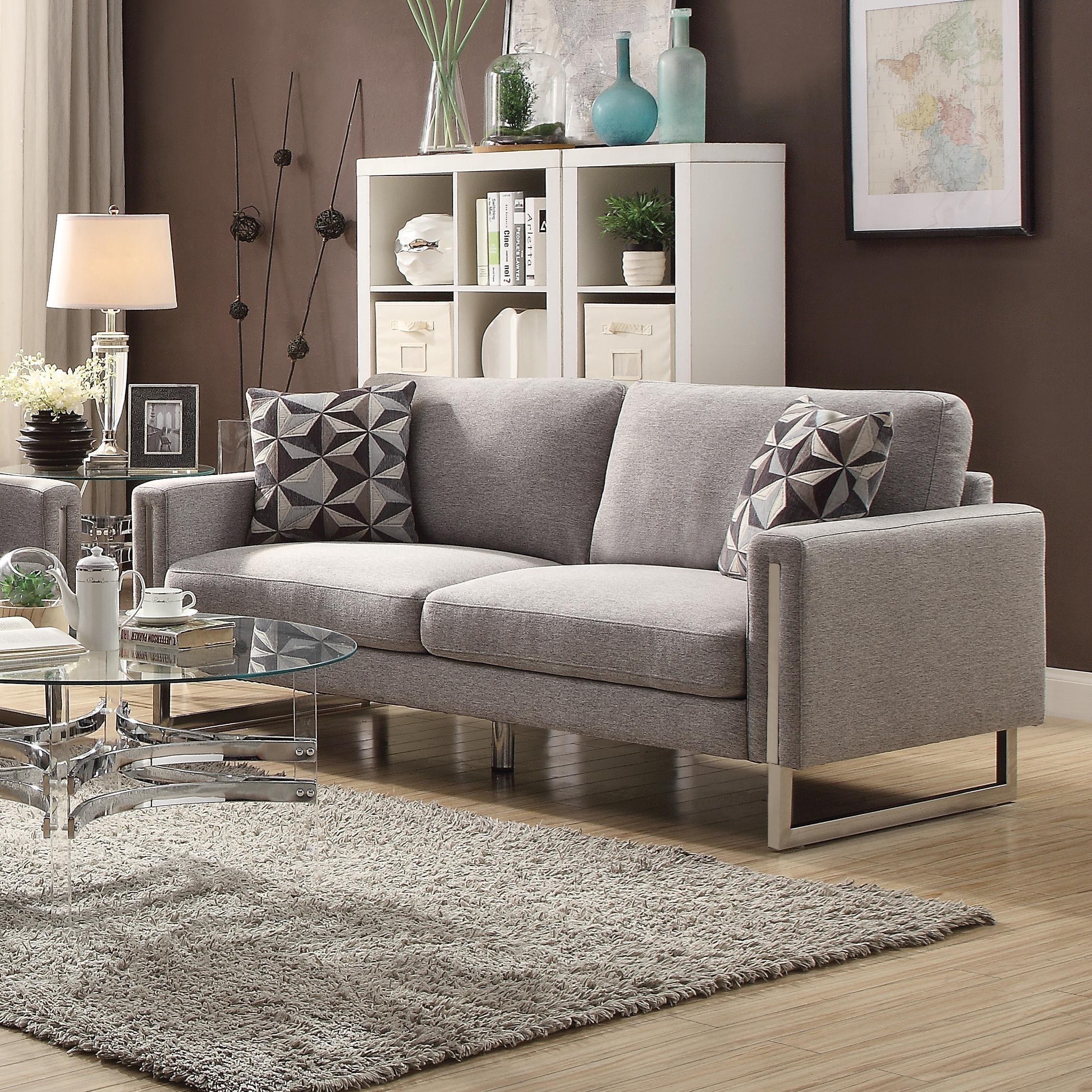 Coaster Stellan 551241 Modern Sofa With U Shaped Steel Legs | Becku0027s  Furniture | Sofas