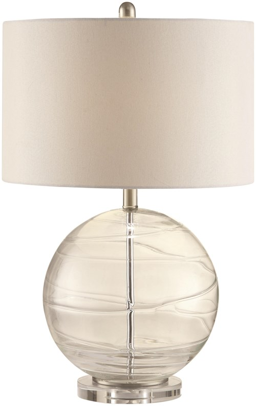 Coaster table lamps clear glass globe lamp