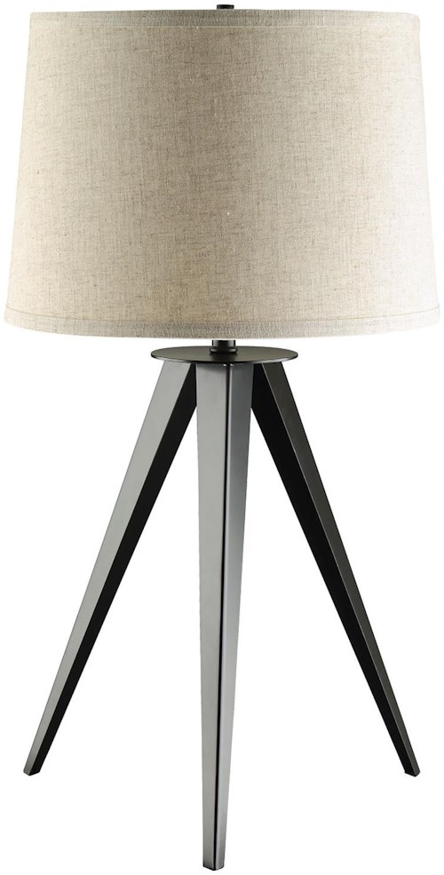 Coaster table lamps table lamp with three leg base