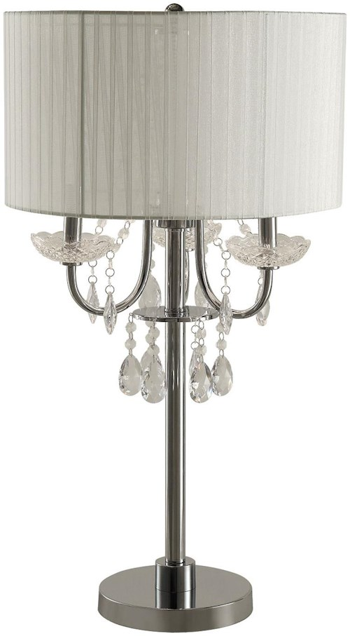 Coaster Table Lamps Table Lamp with Hanging Crystal
