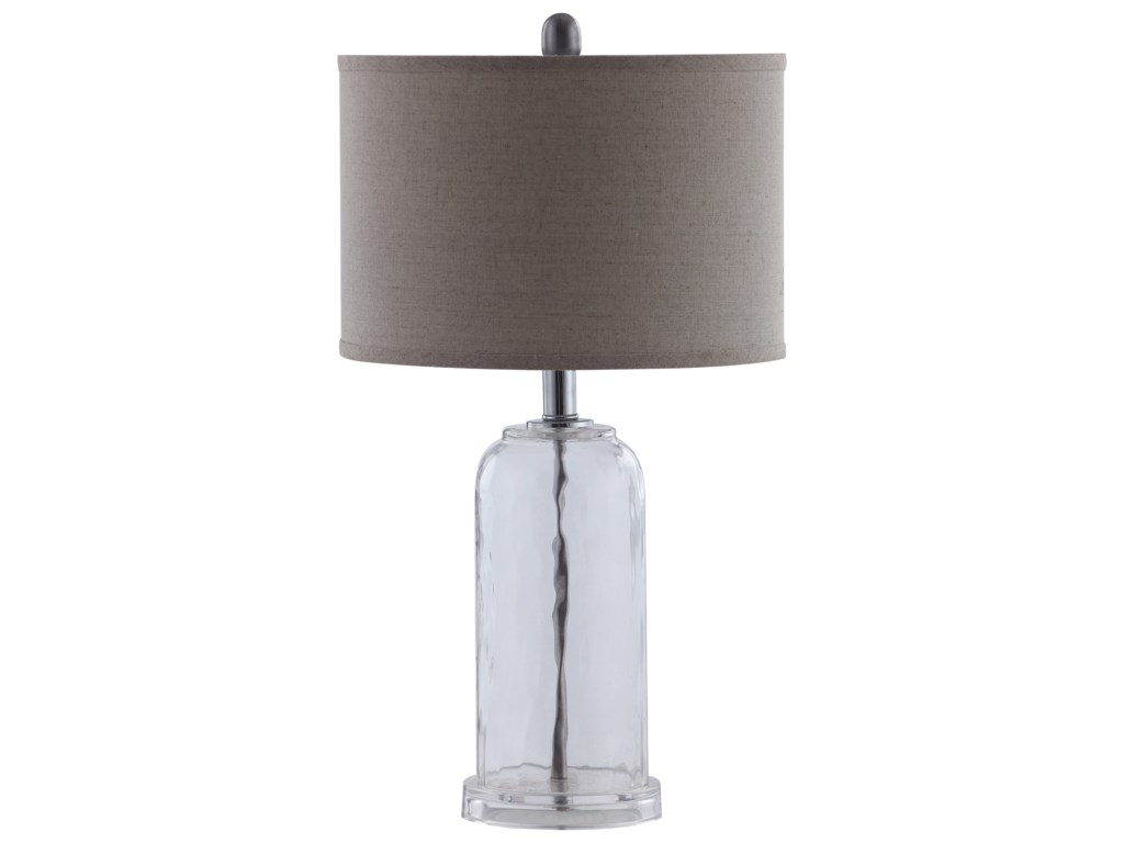 Coaster table lamps 902943 glass base table lamp with white shade table lamps glass base table lamp with white shade by coaster aloadofball Image collections