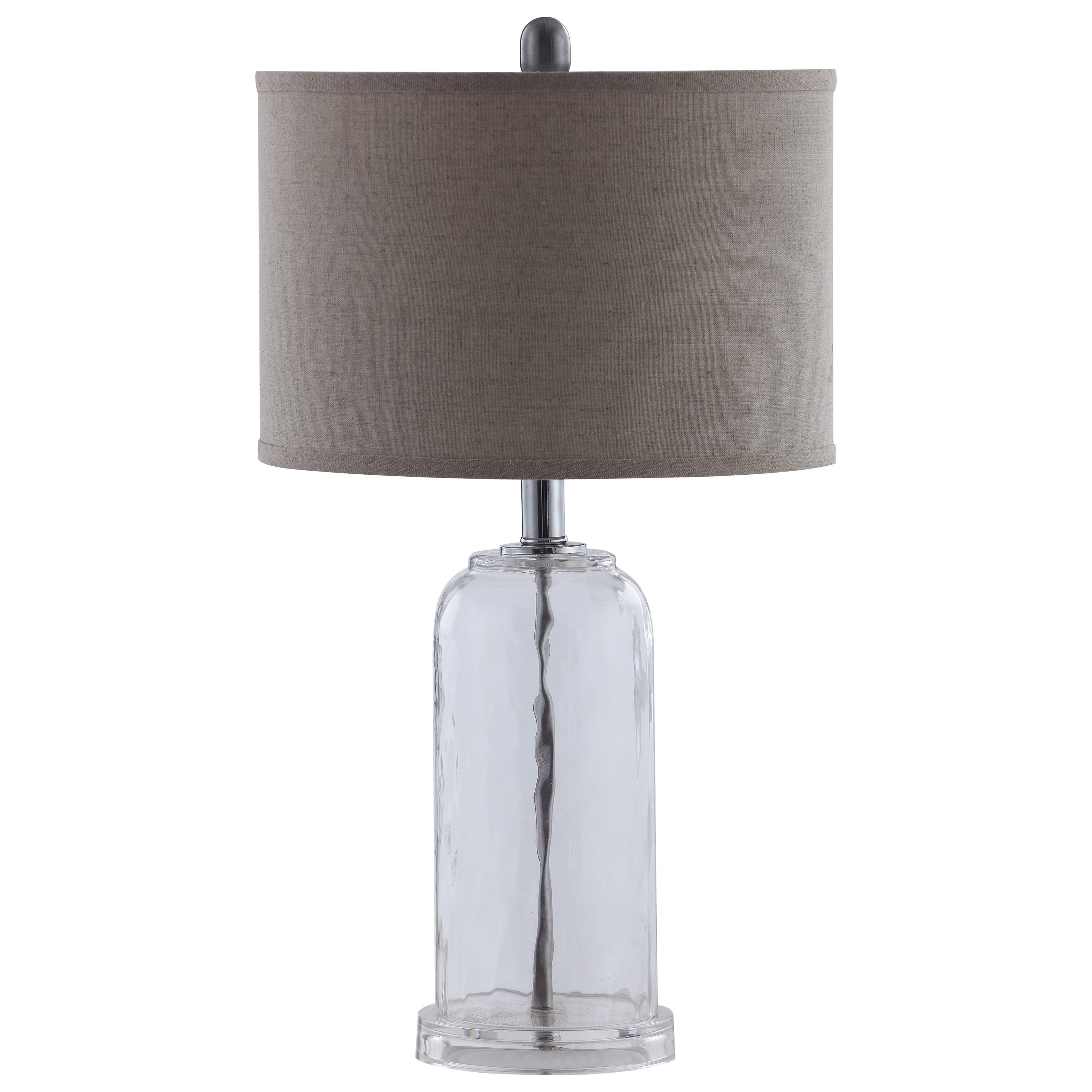Table Lamps Glass Base Table Lamp With White Shade By Coaster