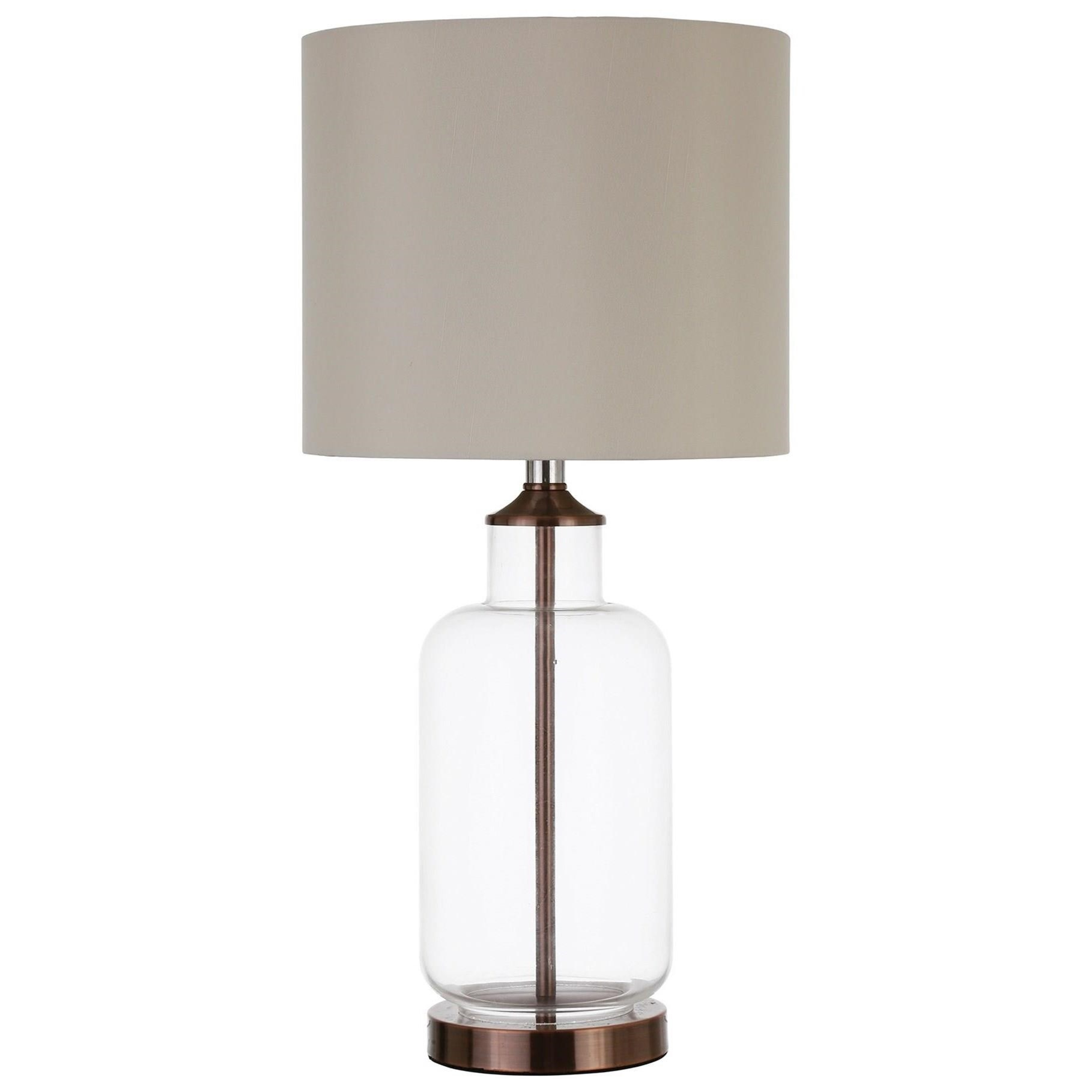 Coaster Table Lamps Table Lamp With Clear Glass Base
