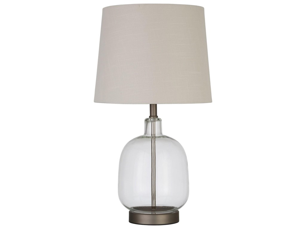 Table Lamps Table Lamp With Glass Base By Coaster At Dunk Bright Furniture