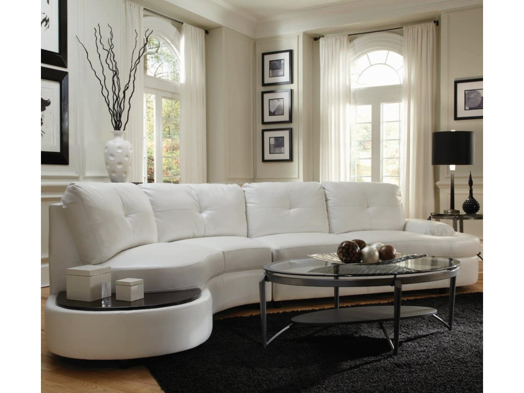 Coaster Talia Contemporary Sectional Conversation Sofa With - Sectional with built in table