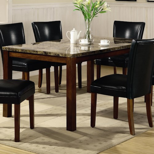 Coaster Telegraph Contemporary Marble Look Top Dining Table