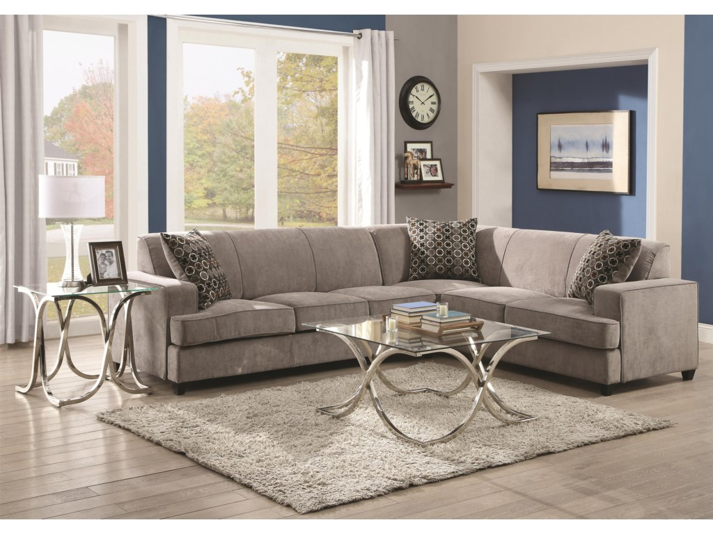 Coaster Tess Sectional Sofa For Corners Value City Furniture