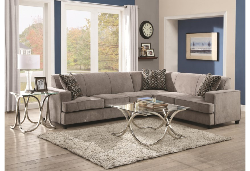 Coaster Tess Sectional Sofa For Corners