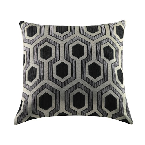 Coaster Throw Pillows Grey and Black Geometric Pillow