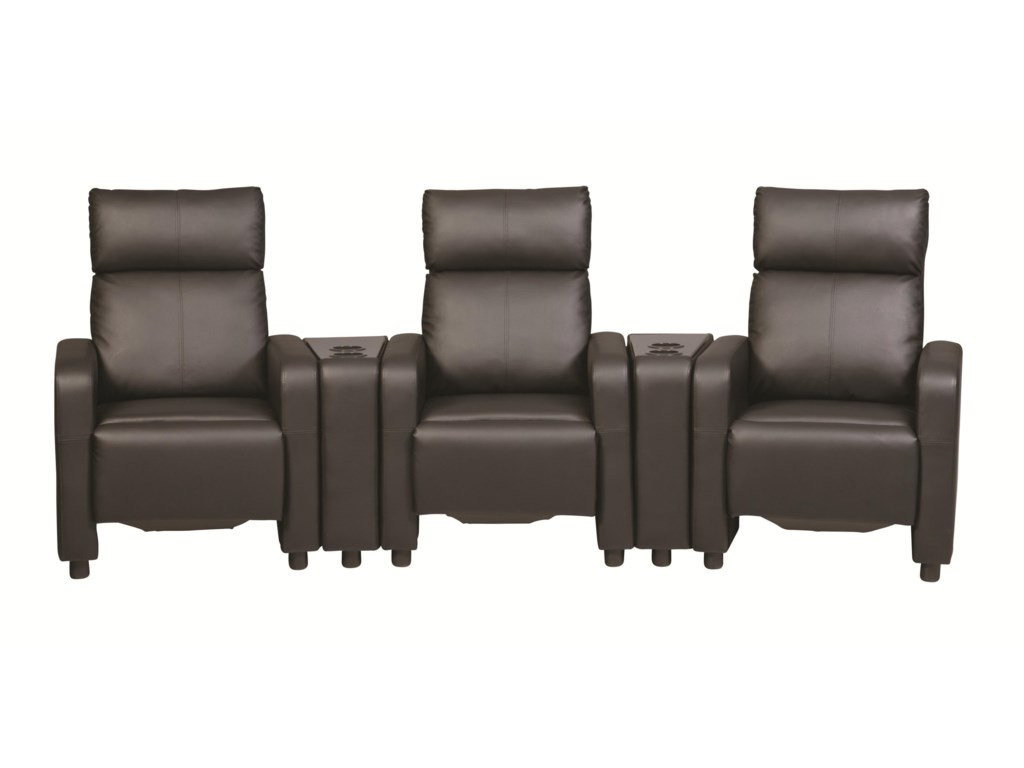 Coaster Toohey5 Pc Reclining Home Theater Group