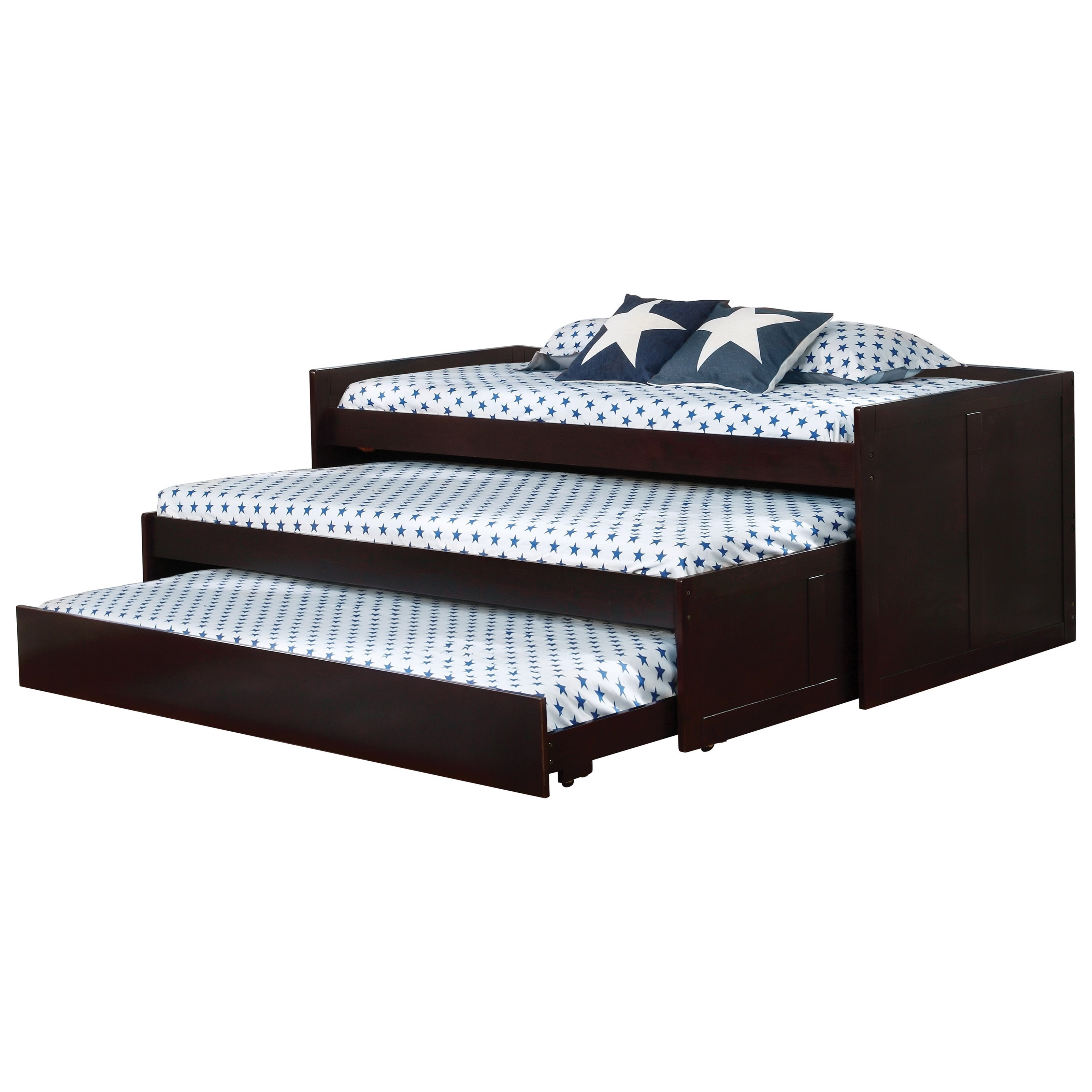 daybed white coaster triple daybeddaybed daybed 405034 layer with two trundles