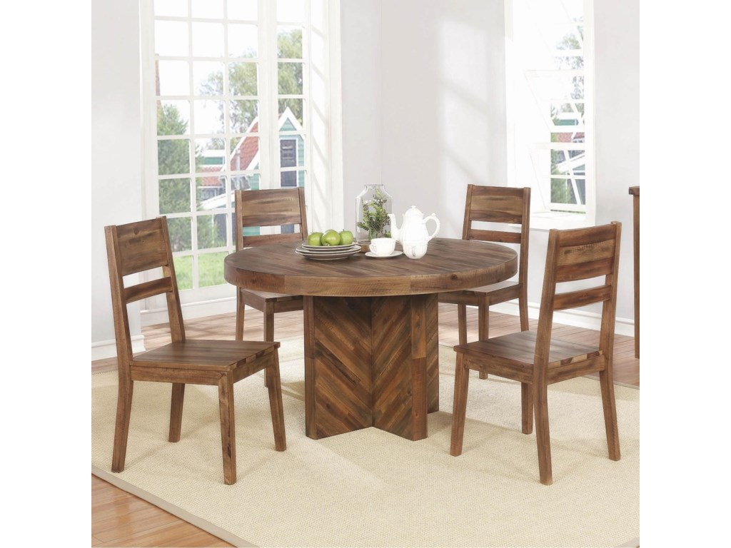 Tucson 5 Piece Round Table And Chair Set By Coaster