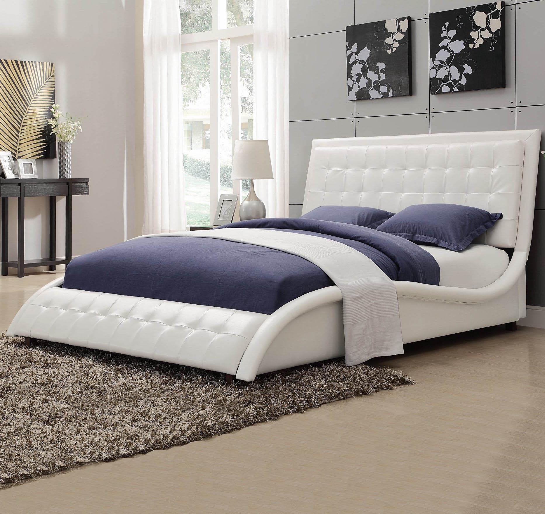coaster tully upholstered king bed del sol furniture upholstered beds