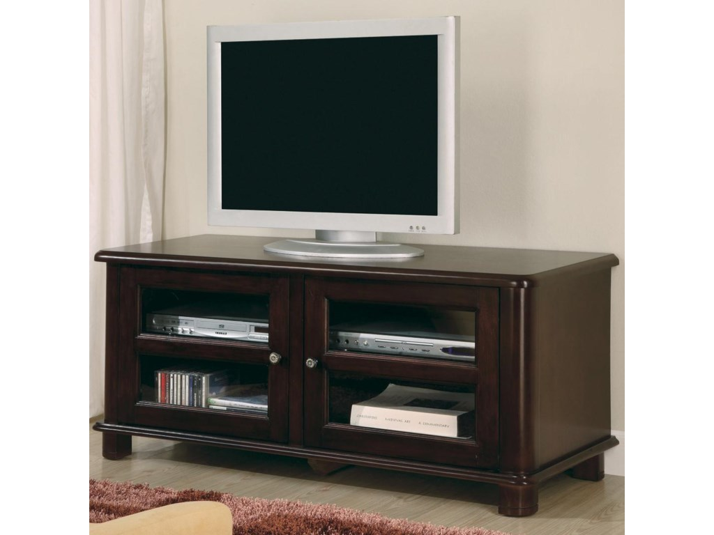 free shipping 83ab8 98945 TV Stands Transitional Media Console with Doors and Shelves by Coaster at  Value City Furniture