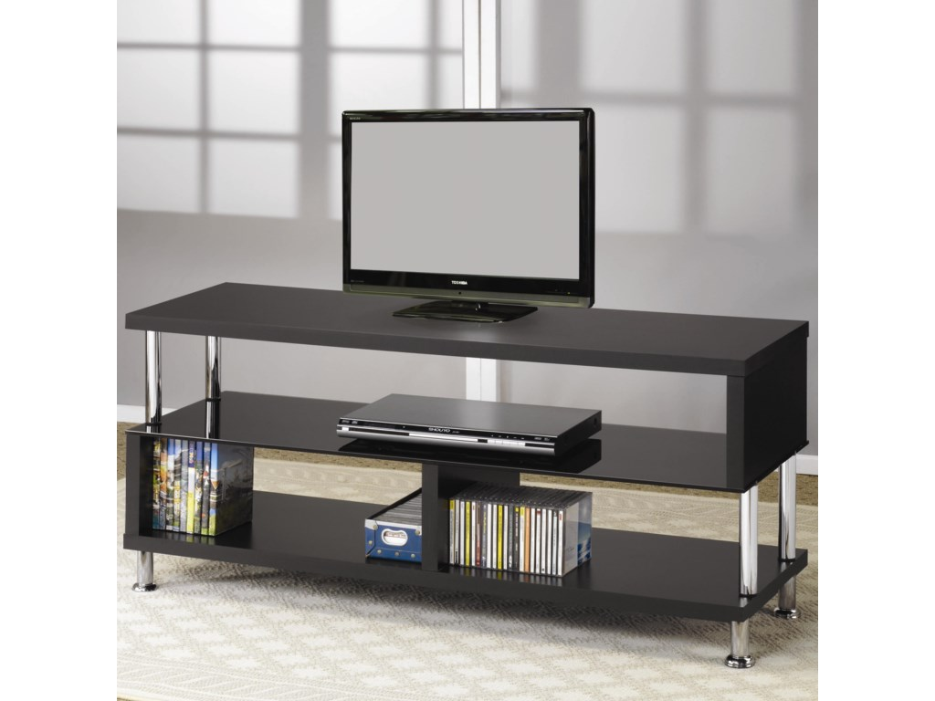 coaster tv stands contemporary media console with glass and chrome accents. coaster tv stands contemporary media console with glass and chrome