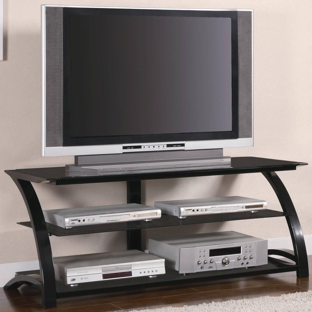 Coaster Tv Stands 700664 Contemporary Metal And Glass Media Console
