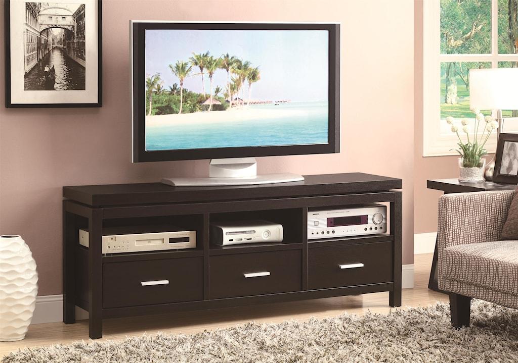 Coaster Tv Stands 700885 Contemporary Tv Console Del Sol  # Contemporary Tv Stands
