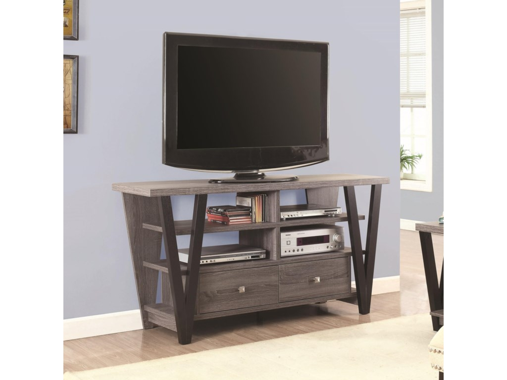 Tv Stands Two Tone Trapezoid Stand By Coaster