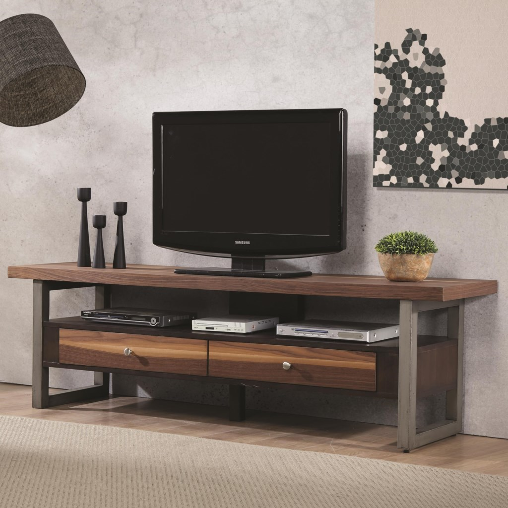 Coaster Tv Stands Clean Two Tone Tv Console Value City Furniture